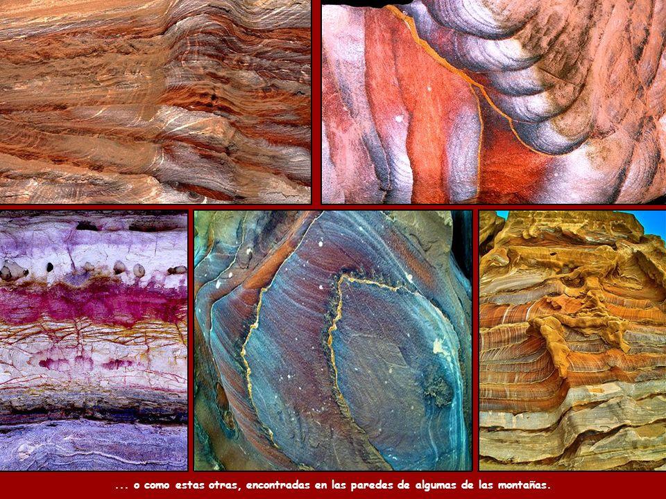La composición geológica de las arenas de la región, que son de colores, da lugar a pinturas naturales como éstas.
