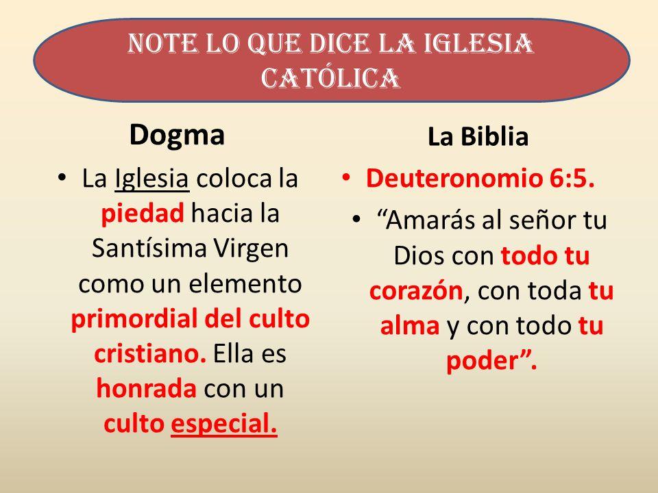 Dogma La Iglesia coloca la piedad hacia la Santísima Virgen como un elemento primordial del culto cristiano. Ella es honrada con un culto especial. La