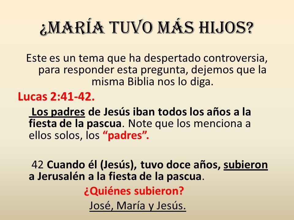 ¿María Tuvo más hijos? Este es un tema que ha despertado controversia, para responder esta pregunta, dejemos que la misma Biblia nos lo diga. Lucas 2: