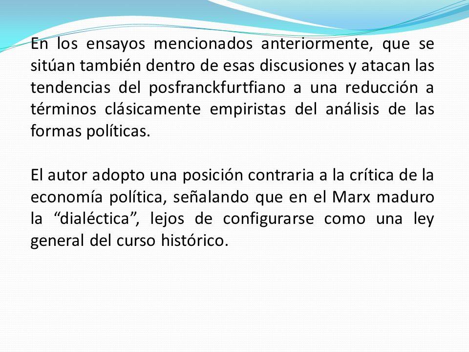 Offen, cuyo análisis es en muchos aspectos contextual, aunque no se identifica con el habermasiano, se presentan problema.