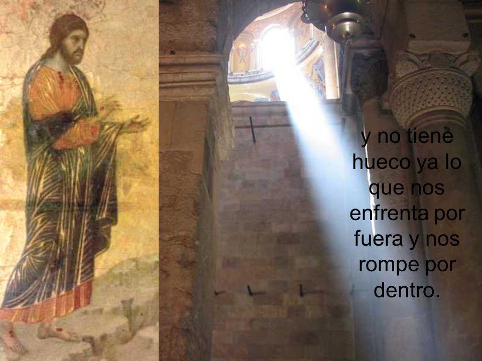 Porque Cristo ha vencido con su resurrección bendita su muerte y la nuestra, y ha terminado la mentira la diga quien la diga;