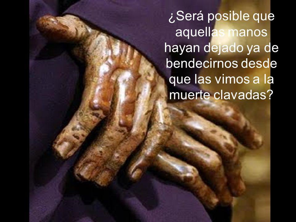 ¿Será posible que aquellas manos hayan dejado ya de bendecirnos desde que las vimos a la muerte clavadas?