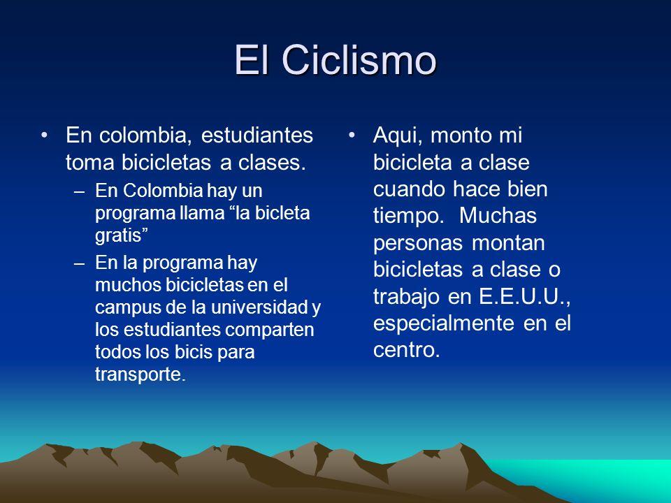 El Ciclismo En colombia, estudiantes toma bicicletas a clases.