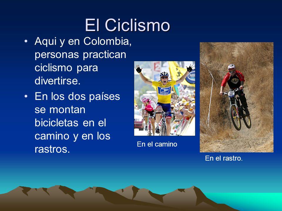 El Ciclismo Aqui y en Colombia, personas practican ciclismo para divertirse.