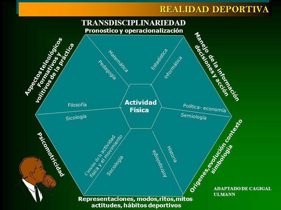 Actividad Física TRANSDISCIPLINARIEDAD Ciencias de la actividad física y el movimiento Sicología Sociología Antropología Pedagogía Filosofía Semiologí