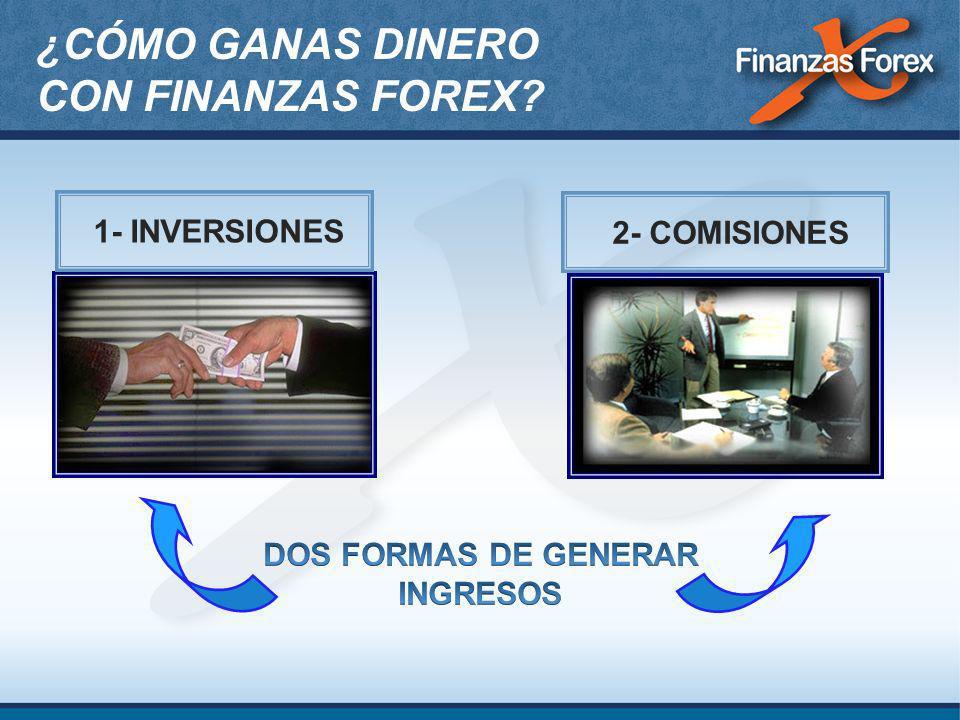1- INVERSIONES2- COMISIONES ¿CÓMO GANAS DINERO CON FINANZAS FOREX?