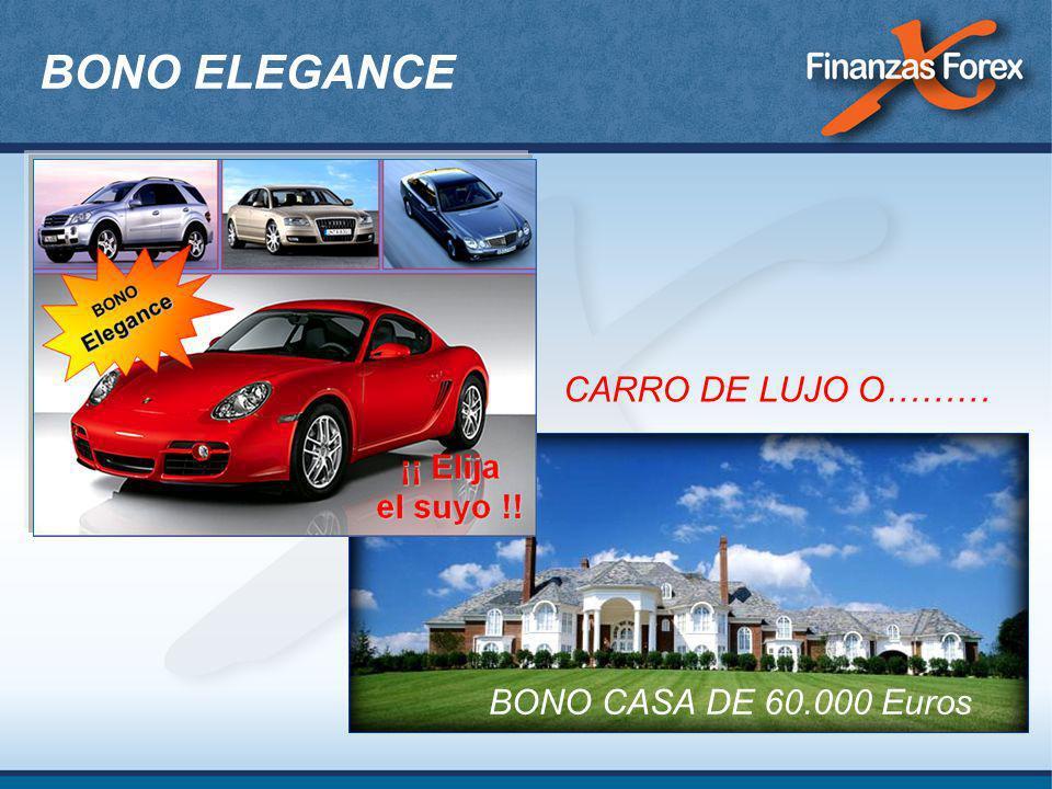 BONO ELEGANCE BONO CASA DE 60.000 Euros CARRO DE LUJO O………