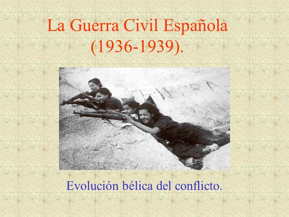 La Guerra Civil Española (1936-1939). Evolución bélica del conflicto.