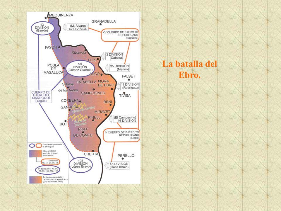 La batalla del Ebro.