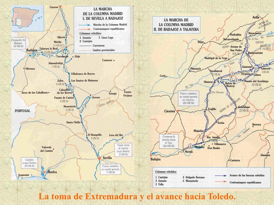La toma de Extremadura y el avance hacia Toledo.