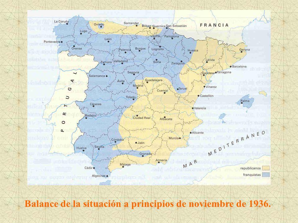 Balance de la situación a principios de noviembre de 1936.