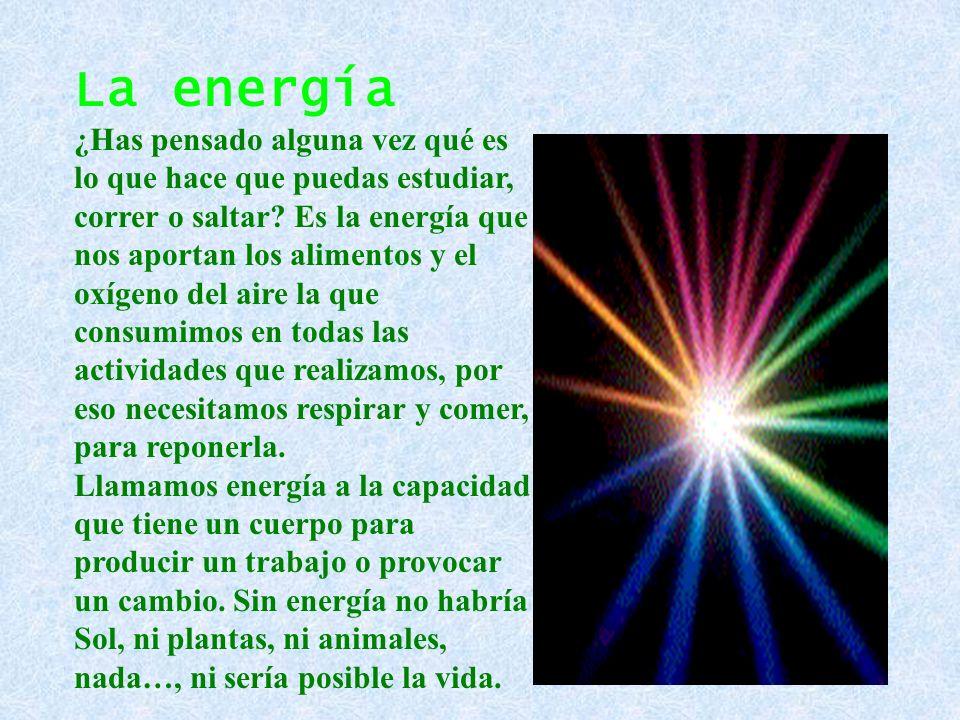 FUENTES DE ENERGÍA Las fuentes de energía son aquellos materiales o fenómenos de la naturaleza capaces de suministrar energía en una cualquiera de sus formas.