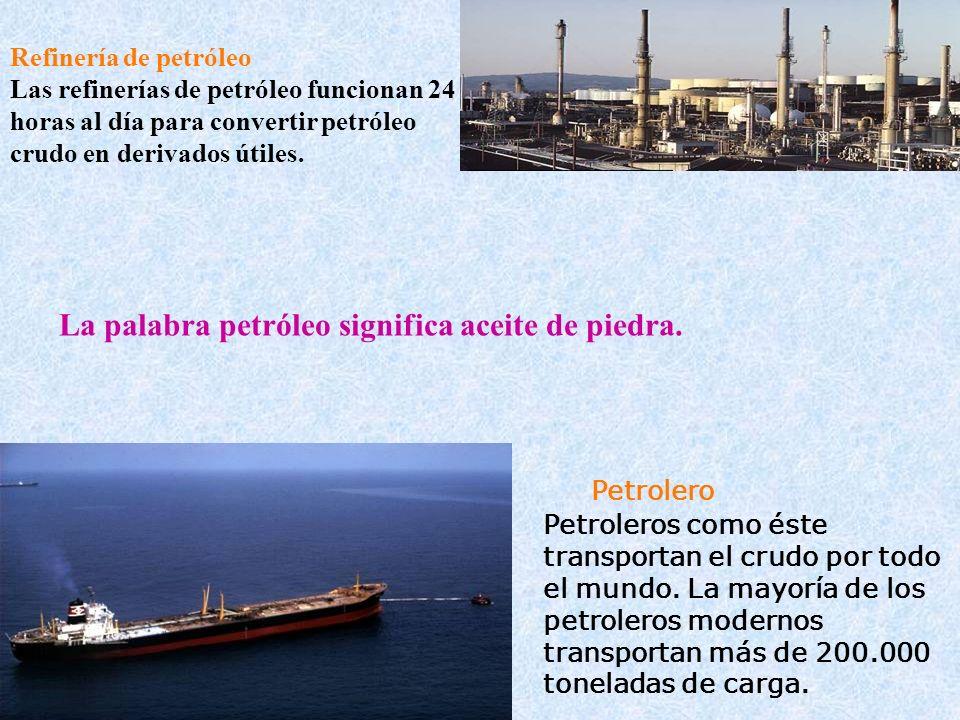 Refinería de petróleo Las refinerías de petróleo funcionan 24 horas al día para convertir petróleo crudo en derivados útiles. Petrolero Petroleros com