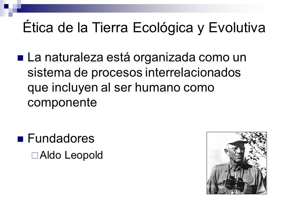 Ética de la Tierra Ecológica y Evolutiva La naturaleza está organizada como un sistema de procesos interrelacionados que incluyen al ser humano como c