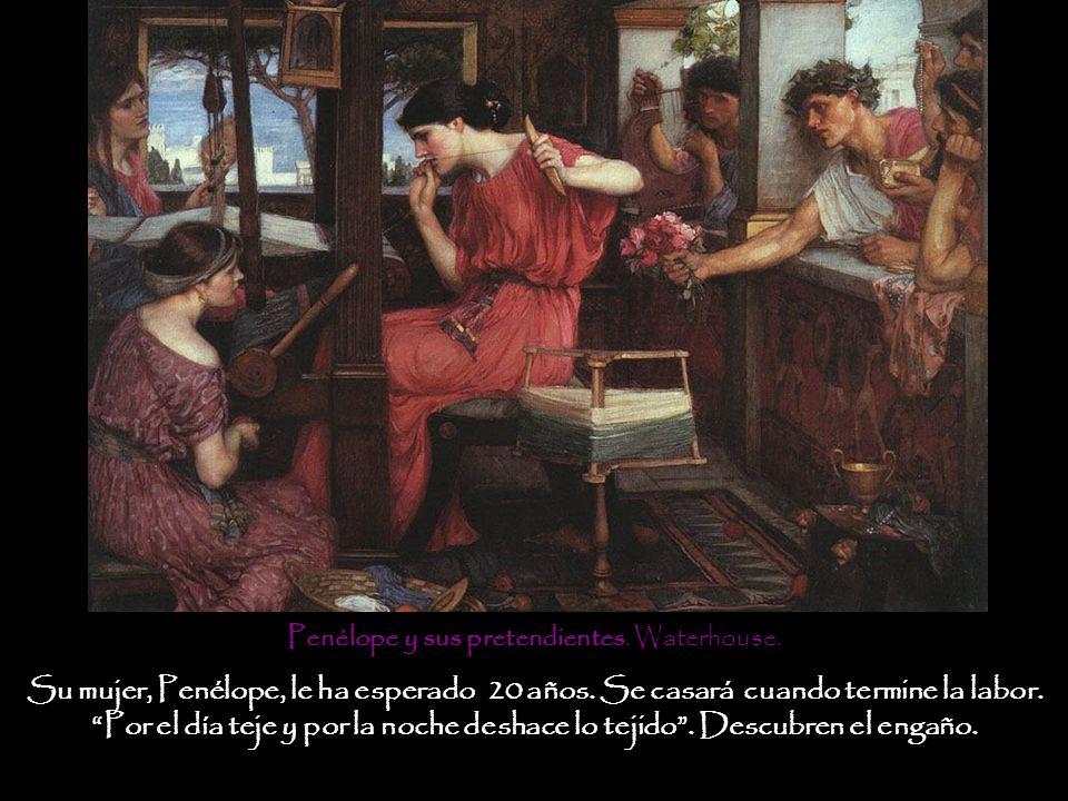 Atenea incita a Telémaco a viajar a Pilos y Esparta para saber de su padre.