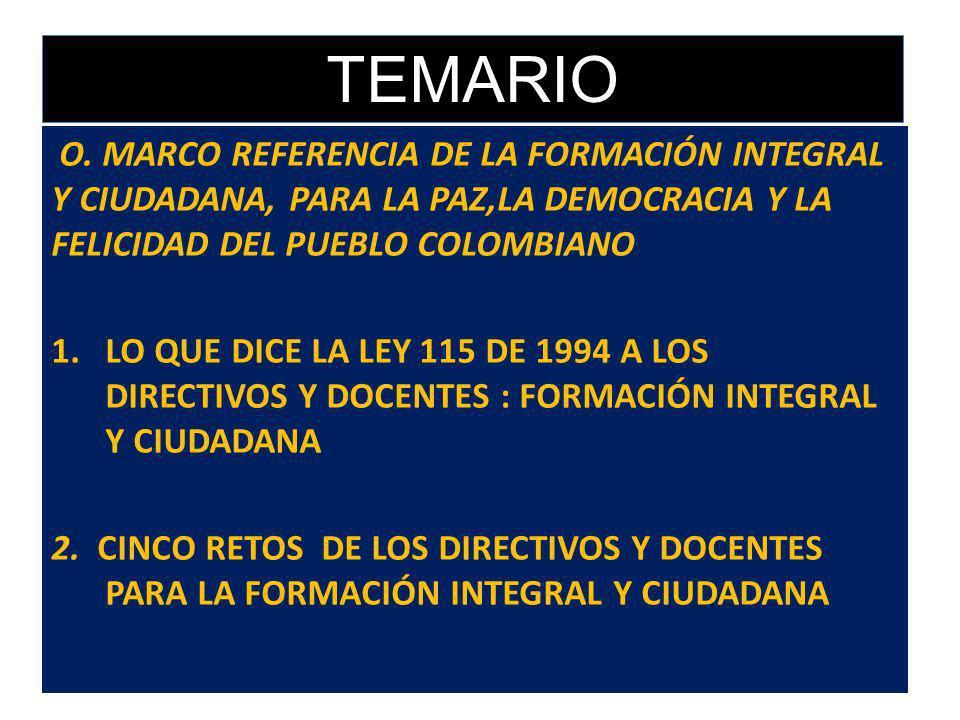 MANUAL DEL EDUCADOR PARA LA FORMACIÓN INTEGRAL Y CIUDADANA, LA PAZ Y LA DEMOCRACIA EN COLOMBIA Enero de 2011 EXPOSITOR: JUAN DE DIOS URREGO GALLEGO AS