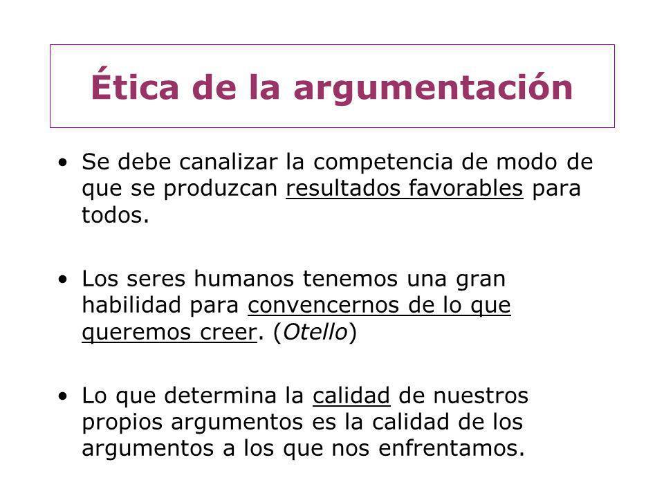 Algunos principios básicos: 1.Principio de reconocimiento de lo explícito: Para que pueda haber argumentación hay que tomarse en serio lo que se afirma.