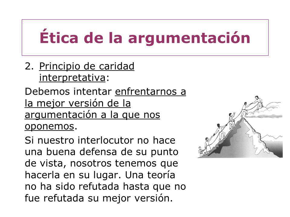 Ética de la argumentación 3.Principio de parsimonia: No hay que apurarse a tomar partido.