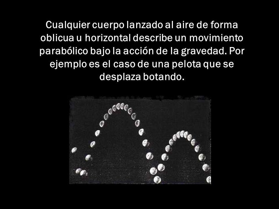 Cualquier cuerpo lanzado al aire de forma oblicua u horizontal describe un movimiento parabólico bajo la acción de la gravedad.