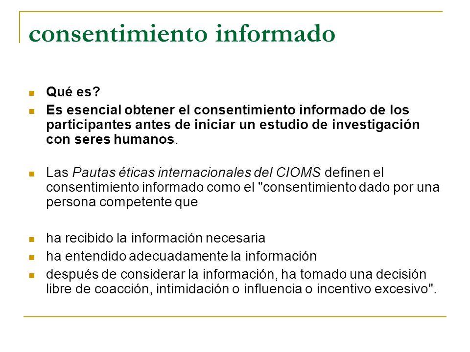 consentimiento informado Qué es? Es esencial obtener el consentimiento informado de los participantes antes de iniciar un estudio de investigación con