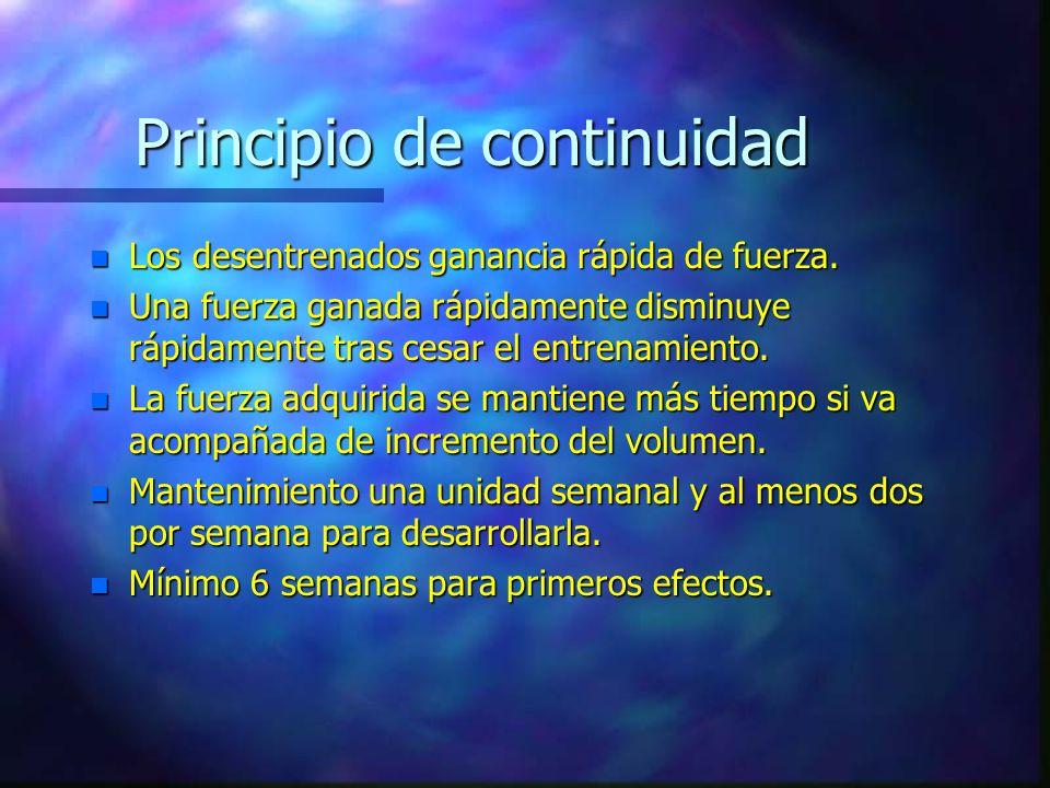 Principio de la variación n Proviene del principio de versatilidad. n Existen varios tipos de variación: –A largo plazo: alternancia de cargas en macr