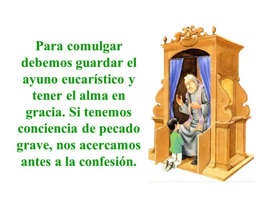 Para comulgar debemos guardar el ayuno eucarístico y tener el alma en gracia.