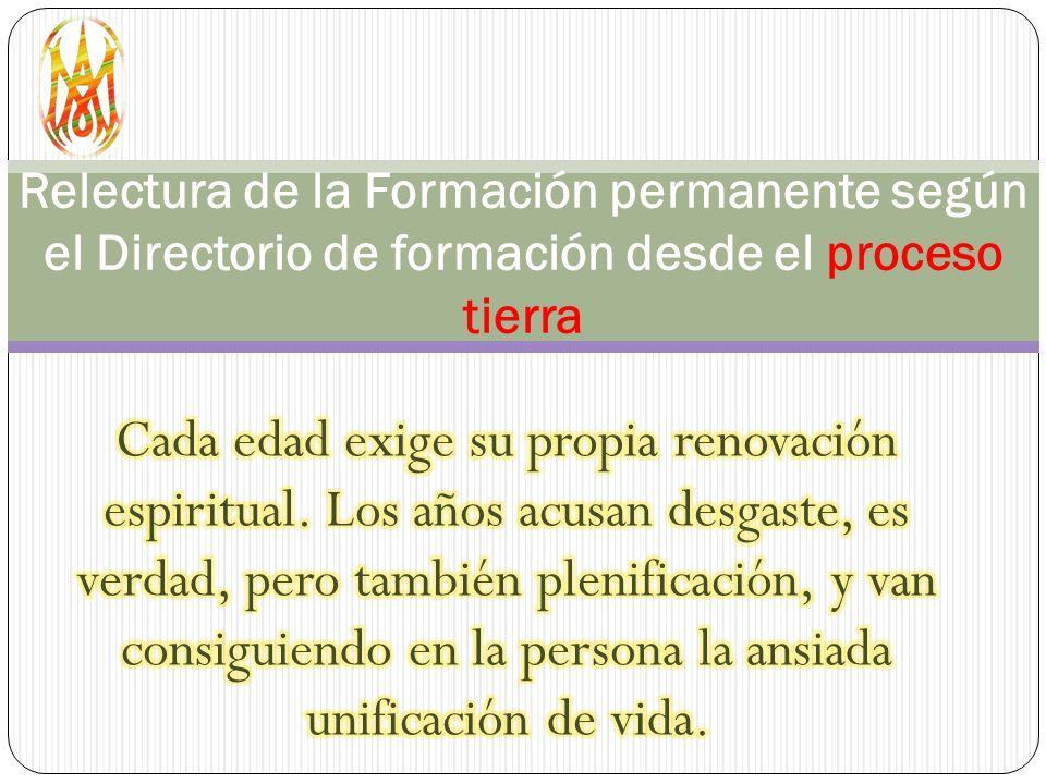 Relectura de la Formación permanente según el Directorio de formación desde el proceso tierra
