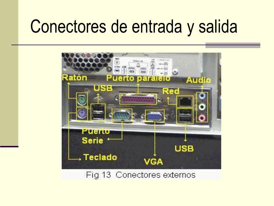 Conectores de entrada y salida