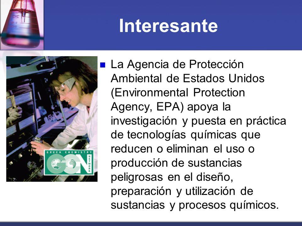 Interesante La Agencia de Protección Ambiental de Estados Unidos (Environmental Protection Agency, EPA) apoya la investigación y puesta en práctica de