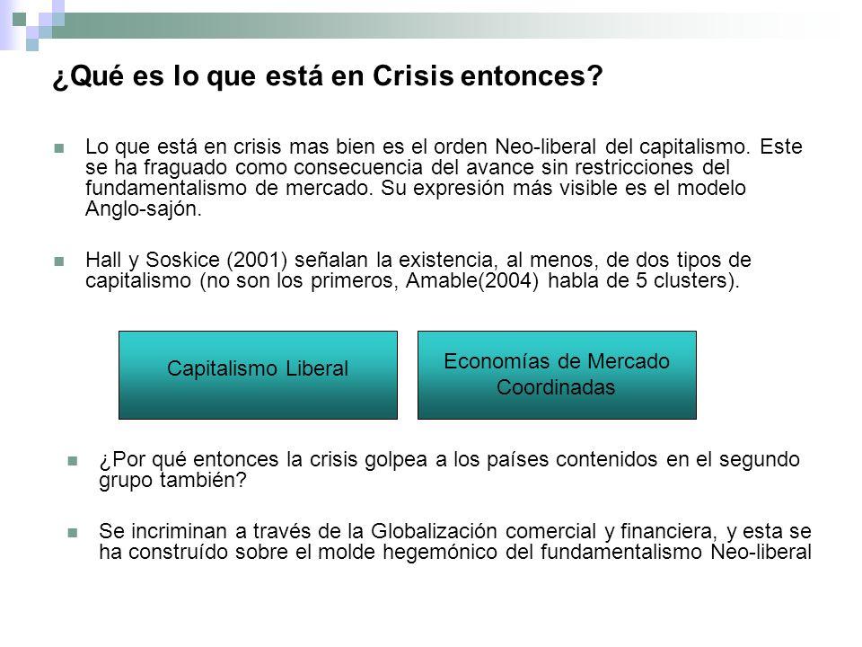 ¿Qué es lo que está en Crisis entonces.