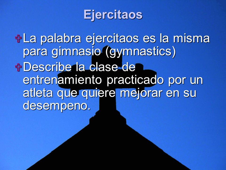 Slide 4 La palabra ejercitaos es la misma para gimnasio (gymnastics) La palabra ejercitaos es la misma para gimnasio (gymnastics) Describe la clase de