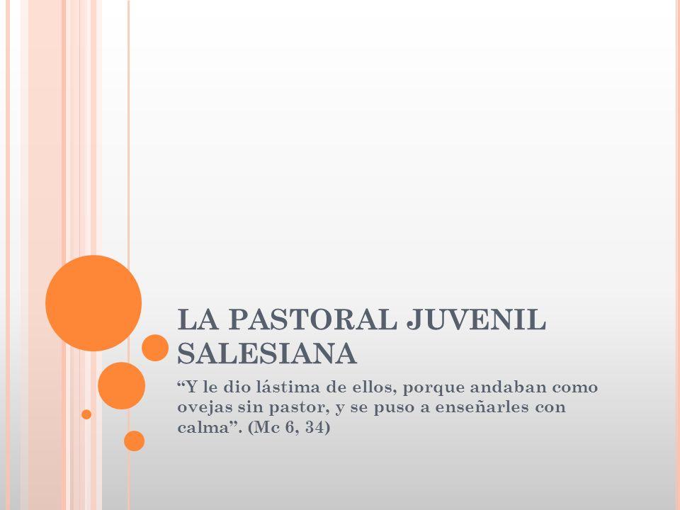 2.- CUADRO DE REFERENCIA DE LA PASTORAL JUVENIL SALESIANA 3.- Ensanchamiento del campo de acción en respuesta a la nueva situación.