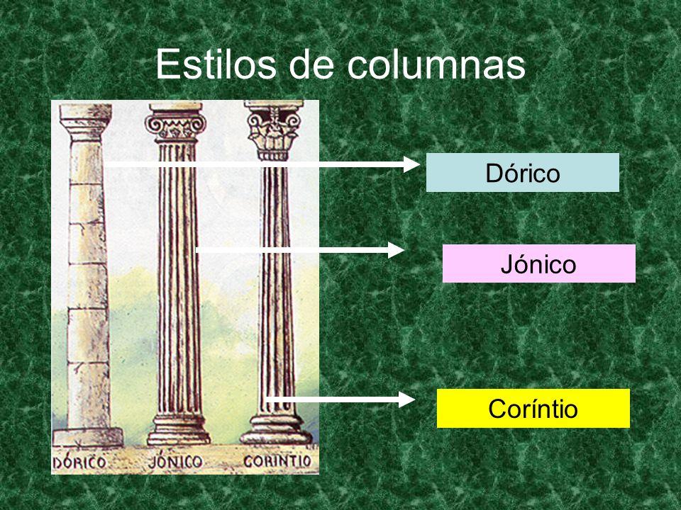 Estilos de columnas Dórico Jónico Coríntio