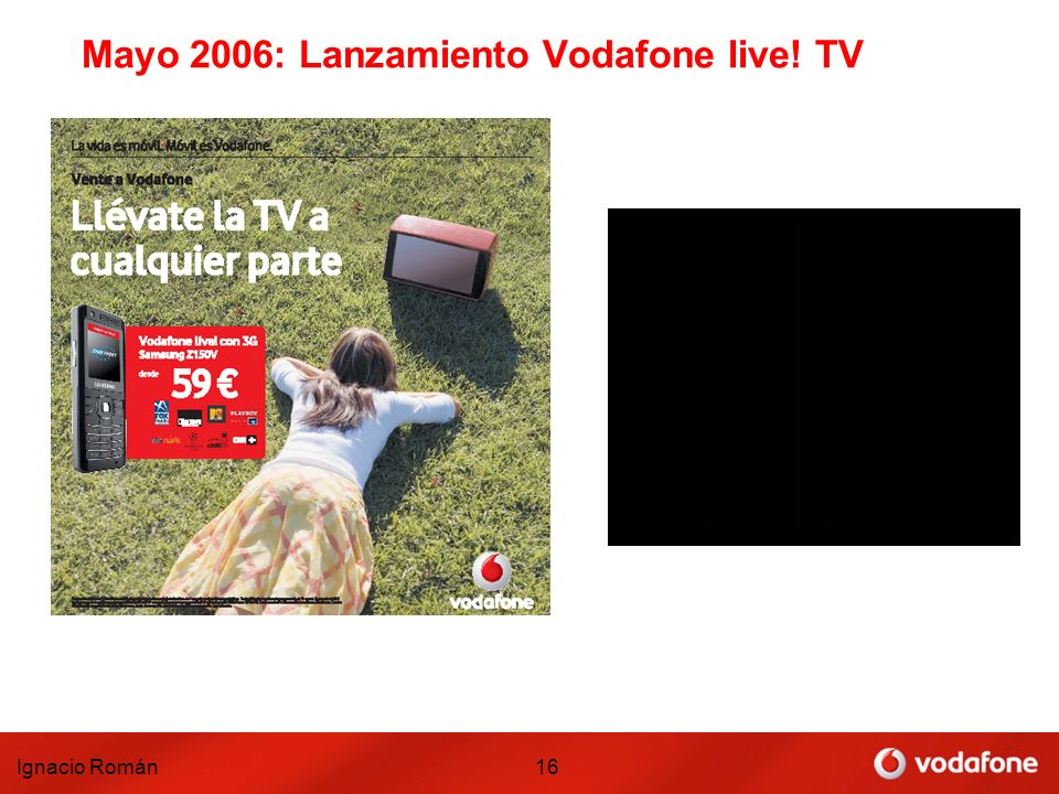 Ignacio Román16 Mayo 2006: Lanzamiento Vodafone live! TV