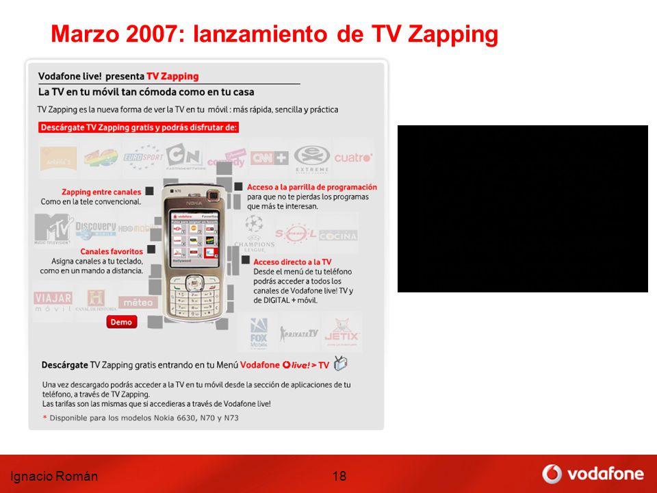 Ignacio Román18 Marzo 2007: lanzamiento de TV Zapping