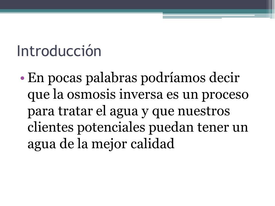 EFICIENCIA DE UNA R/O (TDS alim.