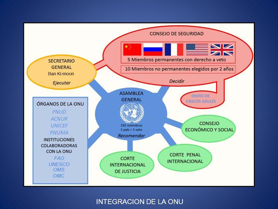 INTEGRACION DE LA ONU