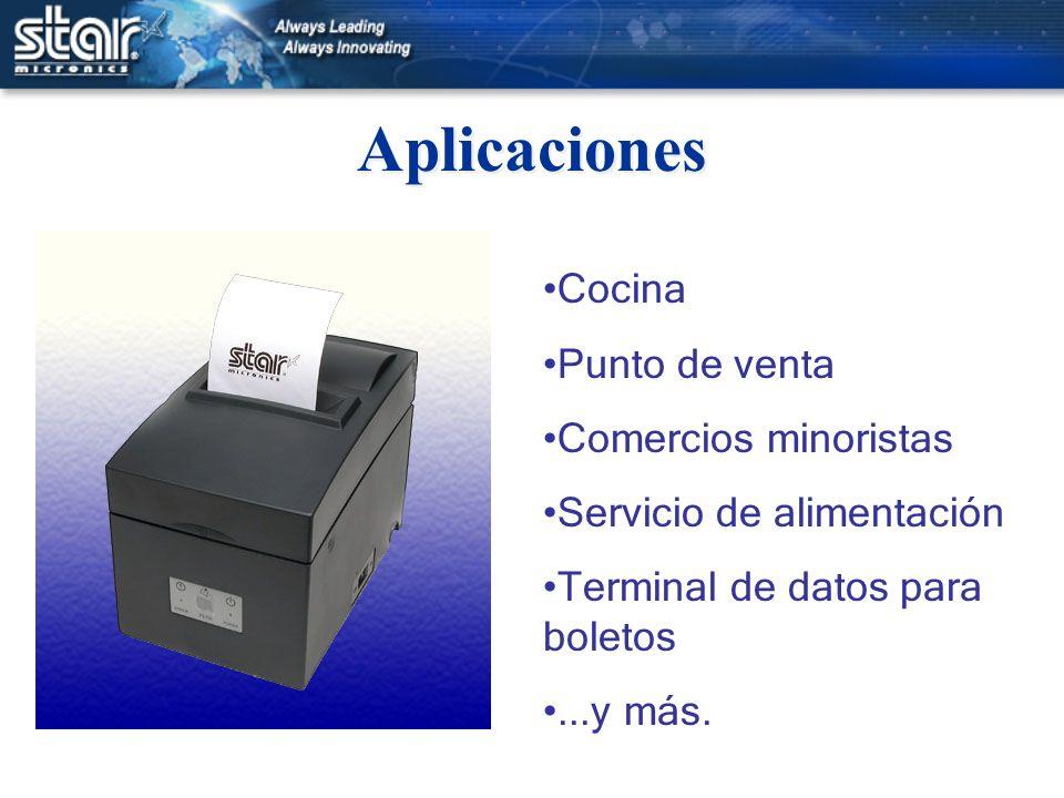 Aplicaciones Cocina Punto de venta Comercios minoristas Servicio de alimentación Terminal de datos para boletos...y más.