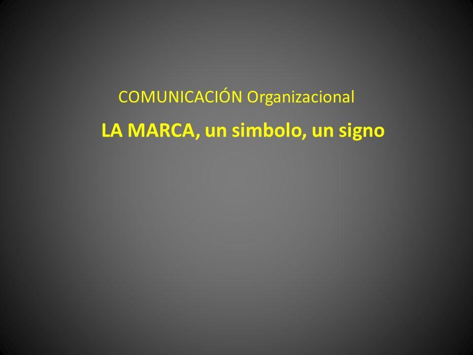 COMUNICACIÓN Organizacional LA MARCA, un simbolo, un signo