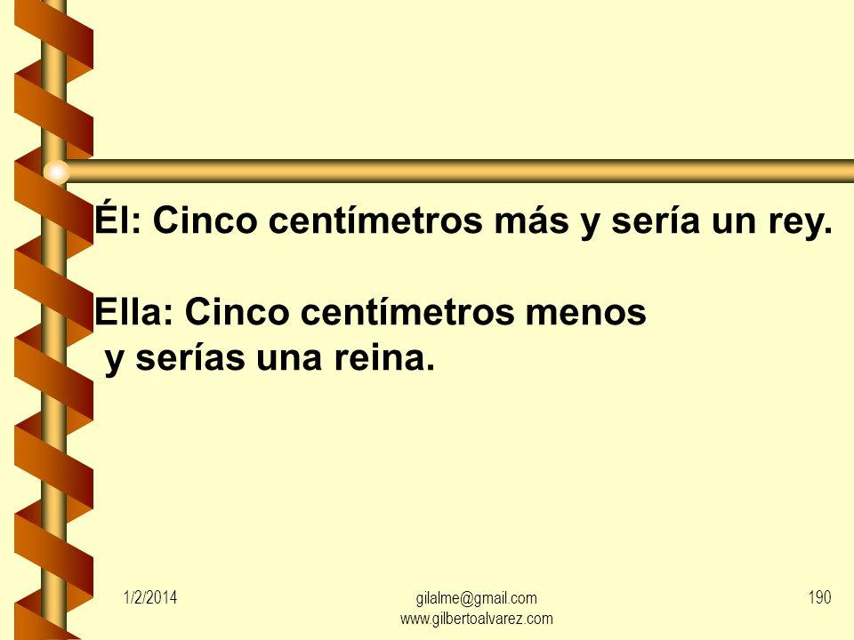 1/2/2014gilalme@gmail.com www.gilbertoalvarez.com 189 Ella: ¿Cómo es que vienes a casa medio borracho?. Él: No es mi culpa; se me acabó el dinero.