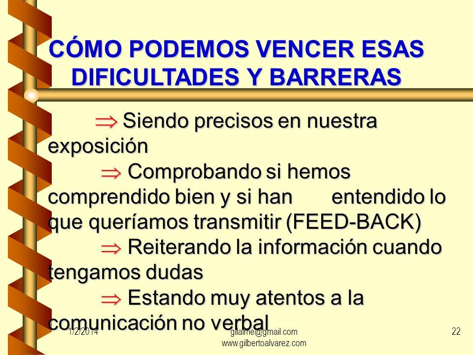 EMISOR Imagen del Emisor que tiene el Receptor 1/2/201421gilalme@gmail.com www.gilbertoalvarez.com