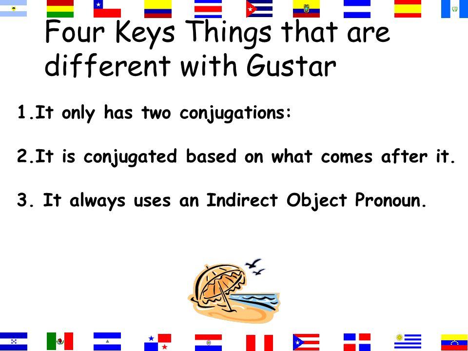 Gusta=singular nouns Gustan=plural nouns =two or more singular nouns