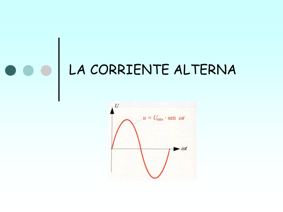 LA CORRIENTE ALTERNA