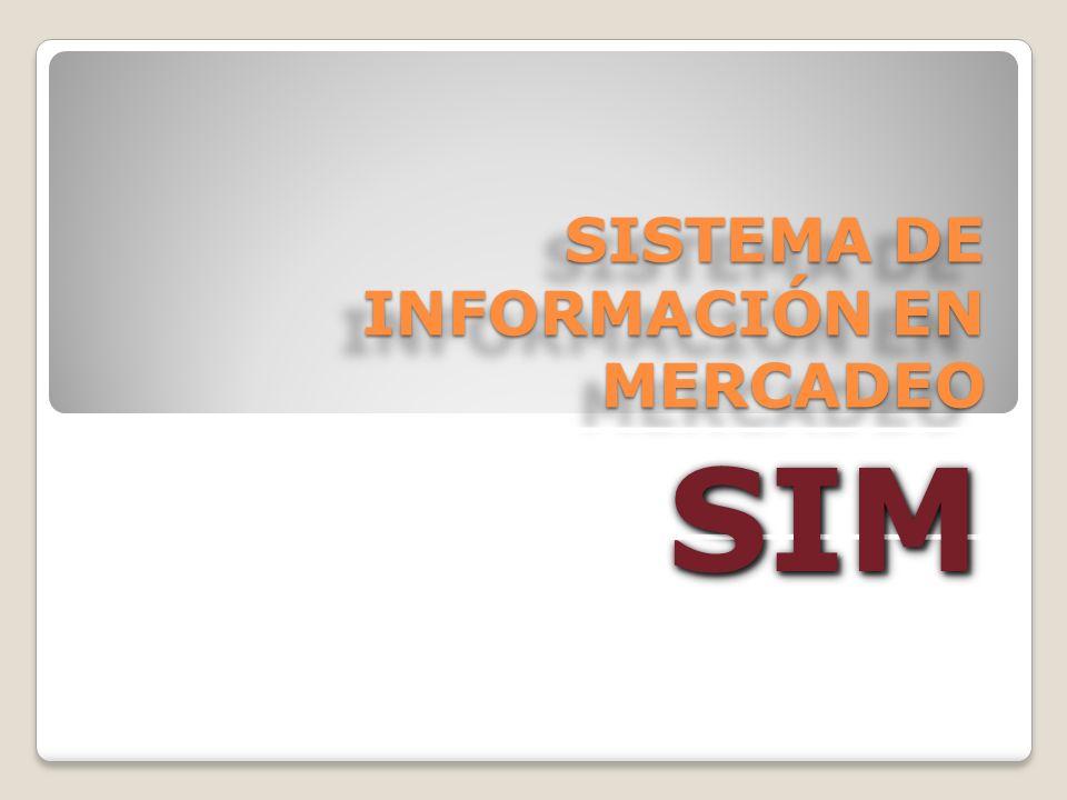 SISTEMA DE INFORMACIÓN EN MERCADEO SIMSIM