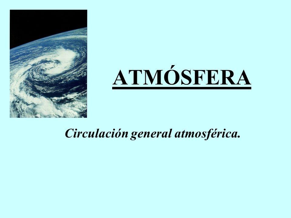 ATMÓSFERA Circulación general atmosférica.