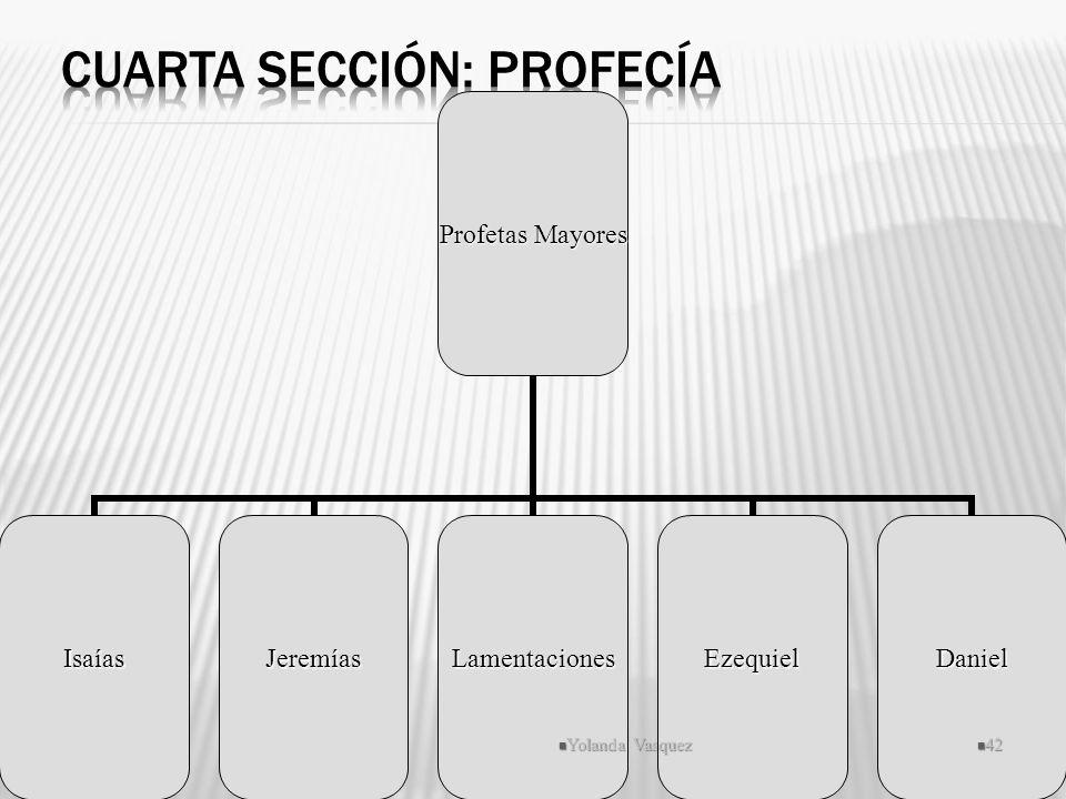 Profetas Mayores IsaíasJeremíasLamentacionesEzequielDaniel Yolanda Vasquez 42