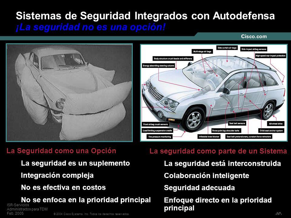Nº © 2004 Cisco Systems, Inc. Todos los derechos reservados. ISR-Servicios Administrados para TDM Feb, 2005 Sistemas de Seguridad Integrados con Autod