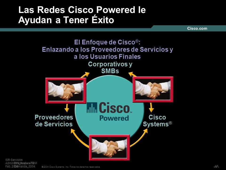 Nº © 2004 Cisco Systems, Inc. Todos los derechos reservados. ISR-Servicios Administrados para TDM Feb, 2005 Las Redes Cisco Powered le Ayudan a Tener
