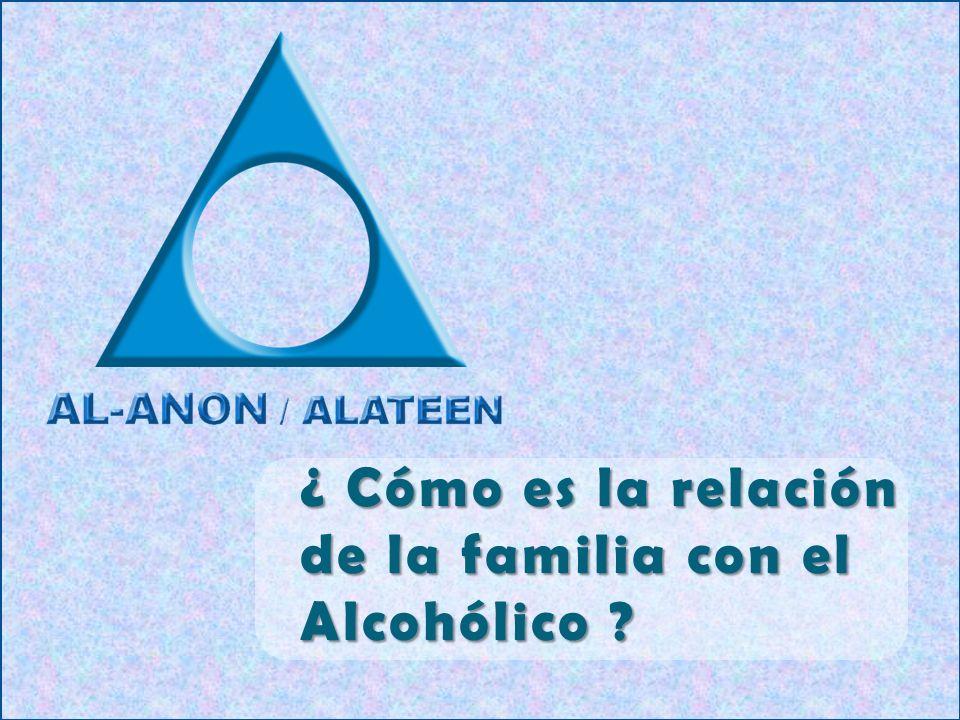 ¿ Cómo es la relación de la familia con el Alcohólico ?
