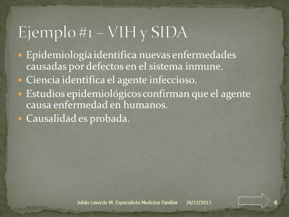 Epidemiología identifica nuevas enfermedades causadas por defectos en el sistema inmune. Ciencia identifica el agente infeccioso. Estudios epidemiológ